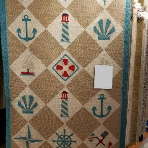 Capel, Nautical Grid Rug, 5′ x 8′